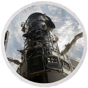 The Hubble Space Telescope Round Beach Towel