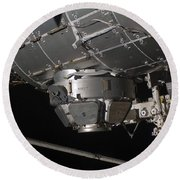 The International Space Stations Round Beach Towel by Stocktrek Images