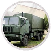 The Iveco M250 8 Ton Truck Used Round Beach Towel