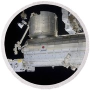 The Japanese Experiment Module Kibo Round Beach Towel