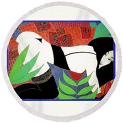 The Last Erotic Geisha Round Beach Towel