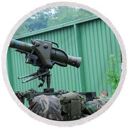 The Milan, Guided Anti-tank Missile Round Beach Towel