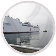 The Military Sealift Command Hospital Round Beach Towel