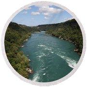 The Niagara River Round Beach Towel