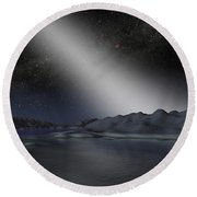 The Night Sky From A Hypothetical Alien Round Beach Towel