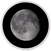 The Old Moon  Round Beach Towel