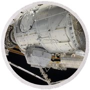 The Pressurized Mating Adapter 3 Round Beach Towel by Stocktrek Images