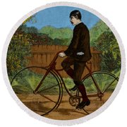 The Rover Bicycle Round Beach Towel
