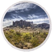 The Superstitions  Round Beach Towel