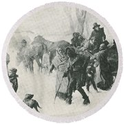 The Underground Railroad Round Beach Towel by Photo Researchers