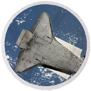 The Underside Of Space Shuttle Round Beach Towel