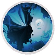 The Wolf Within Round Beach Towel