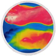 Thermogram Of Circulation In Feet Round Beach Towel
