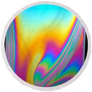 Thin Film Optical Interference Round Beach Towel