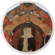 Thomas Aquinas, Italian Philosopher Round Beach Towel