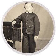 Thomas Tad Lincoln Round Beach Towel