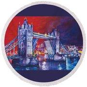 Tower Bridge London Round Beach Towel