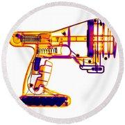 Toy Vortex Gun Round Beach Towel