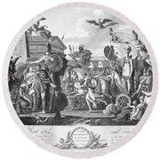Treaty Of Ghent, 1814 Round Beach Towel