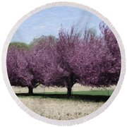Trees On Warwick Round Beach Towel by Trish Tritz