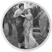 Troilus And Cressida Round Beach Towel