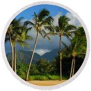 Tropical Beauty Round Beach Towel