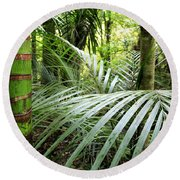 Tropical Jungle Round Beach Towel