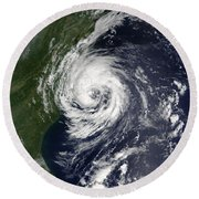 Tropical Storm Gustav Round Beach Towel