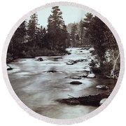 Truckee River - California - C 1865 Round Beach Towel