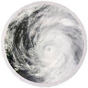 Typhoon Man-yi Round Beach Towel