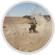U.s. Marines Fire Several Round Beach Towel by Stocktrek Images