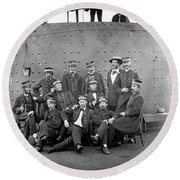 U.s.s. Monitor, 1862 Round Beach Towel