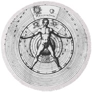 Utrisque Cosmi, Title Page, 1617 Round Beach Towel by Science Source