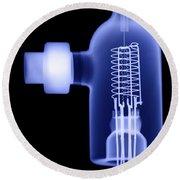 Vacuum Ionization Gauge Tube Round Beach Towel