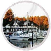 Vancouver Rowing Club Round Beach Towel