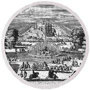 Versailles: Gardens, 1685 Round Beach Towel