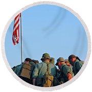 Veterans Remember Round Beach Towel
