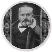 Victor Hugo, French Author Round Beach Towel