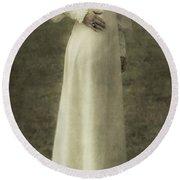 Victorian Lady Round Beach Towel by Joana Kruse