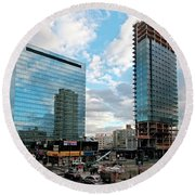 View Interrupted Round Beach Towel