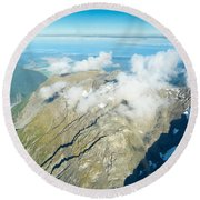 View On To Fox Glacier In South New Zealand Round Beach Towel