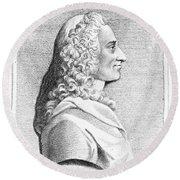 Voltaire (1694-1779) Round Beach Towel