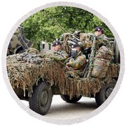 Vw Iltis Jeeps Used By Scout Or Recce Round Beach Towel