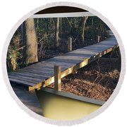 Walk Bridge Round Beach Towel