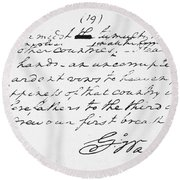 Washington: Farewell, 1796 Round Beach Towel