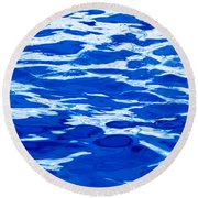 Blue Water Round Beach Towel