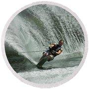 Water Skiing Magic Of Water 27 Round Beach Towel
