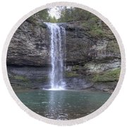 Waterfall Round Beach Towel