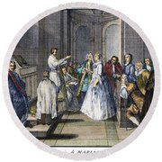 Wedding, C1730 Round Beach Towel