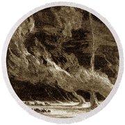 Whirlwinds, 1873 Round Beach Towel